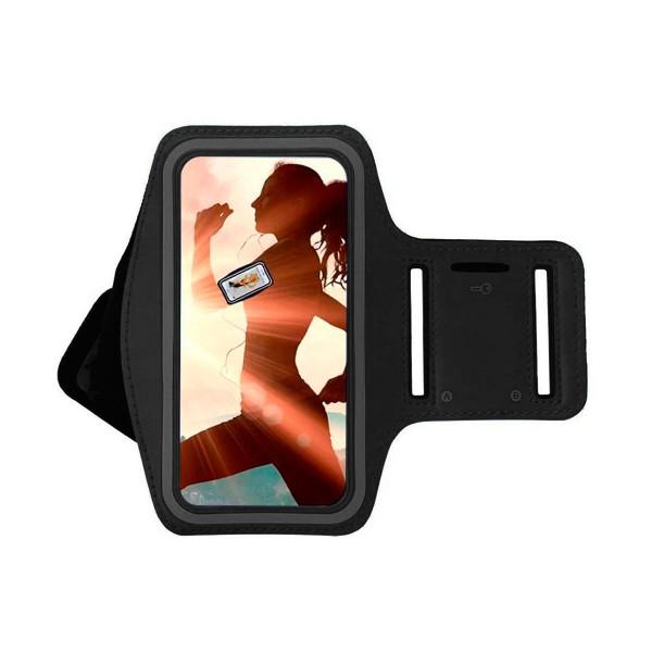 Jc brazalete deportivo negro resistente al agua para móviles de 5'' a 5.7''