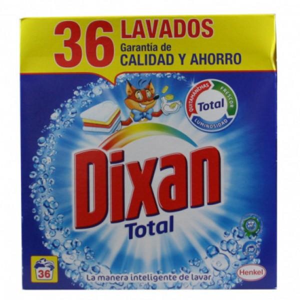Dixan total detergente 36 lavados