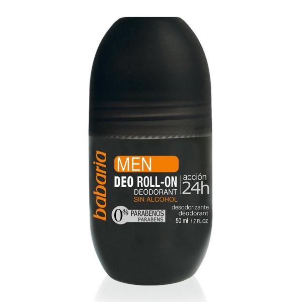 Babaria men desodorante roll-on sin alcohol accion 24h 50ml