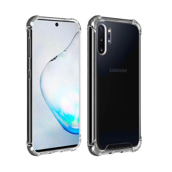 Akashi funda silicona transparente samsung galaxy note 10+ bordes reforzados