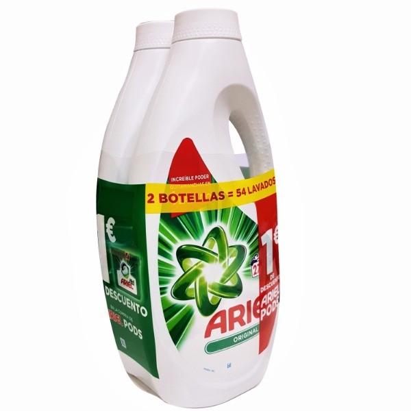 Ariel Detergente Clásico Duplo 27+27 lavados