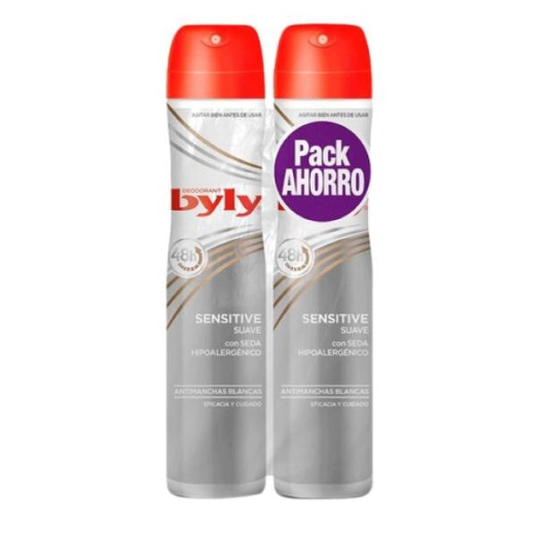 Byly deodorante Sensitive Pack Ahorro 200 ml + 200 ml