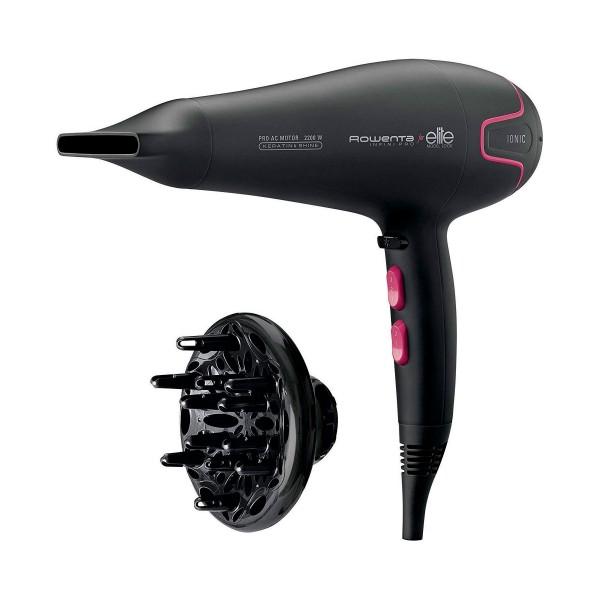 Rowenta cv8732 negro rosa secador de pelo infini pro elite 2200w iónico