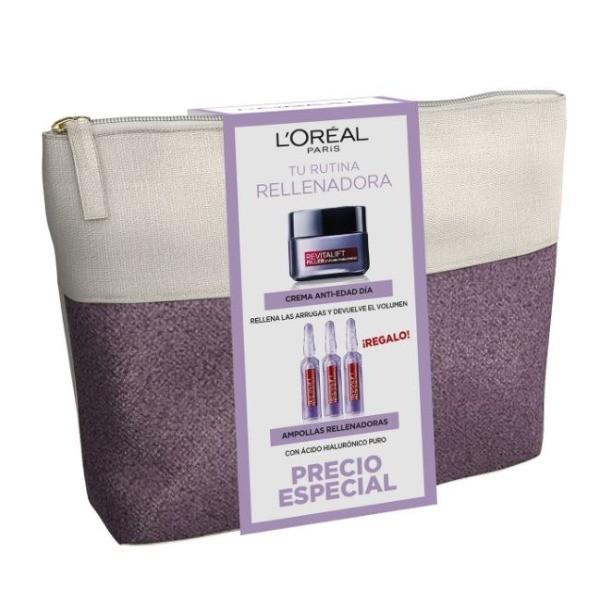 L'Oréal Paris Revitalift set Crema Anti-edad DÍA 50 ML + Ampollas Rellenadoras 3 x 1,3 ml REGALO